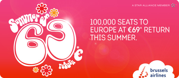 ✈ 100,000 seats to Europe at €69 return this summer. ✈