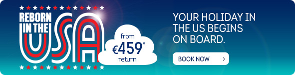 Your holiday in the us begins on board. From €459 return*