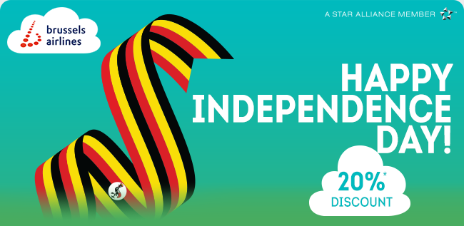 Brussels Airlines wishes you a happy Independence Day!